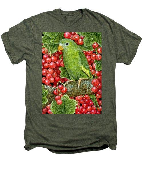 Redcurrant Parakeet Men's Premium T-Shirt by Ditz