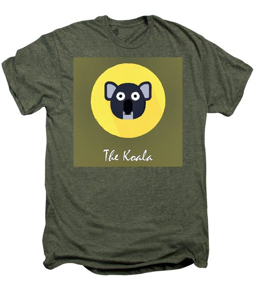 The Koala Cute Portrait Men's Premium T-Shirt by Florian Rodarte