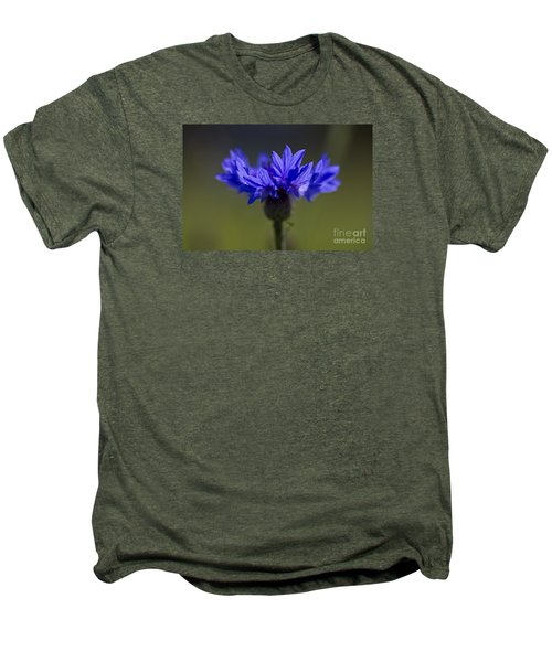 Men's Premium T-Shirt featuring the photograph Cornflower Blue by Clare Bambers