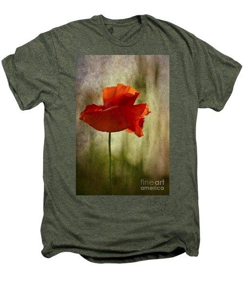 Men's Premium T-Shirt featuring the photograph Moody Poppy. by Clare Bambers - Bambers Images