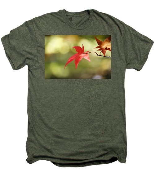 Men's Premium T-Shirt featuring the photograph Red Leaf. by Clare Bambers