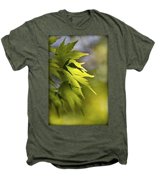 Men's Premium T-Shirt featuring the photograph Shades Of Green And Gold. by Clare Bambers
