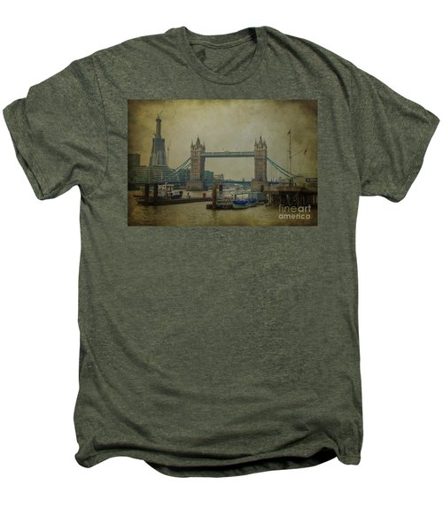 Men's Premium T-Shirt featuring the photograph Tower Bridge. by Clare Bambers