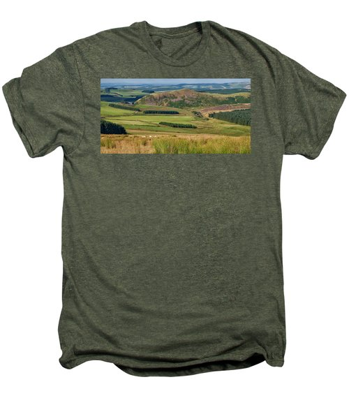 Scotland View From The English Borders Men's Premium T-Shirt by Jeremy Lavender Photography