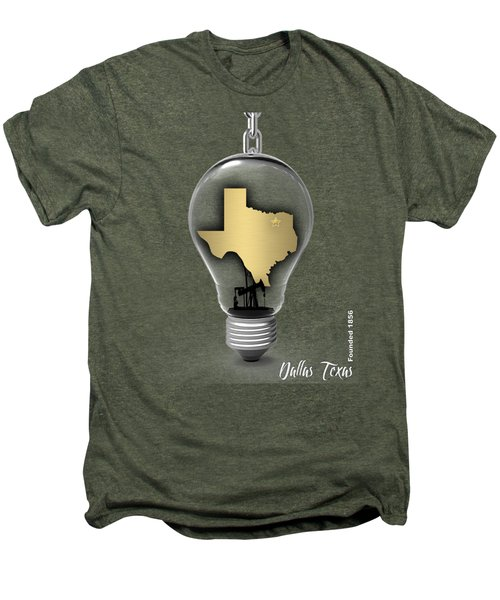 Dallas Texas Map Collection Men's Premium T-Shirt by Marvin Blaine