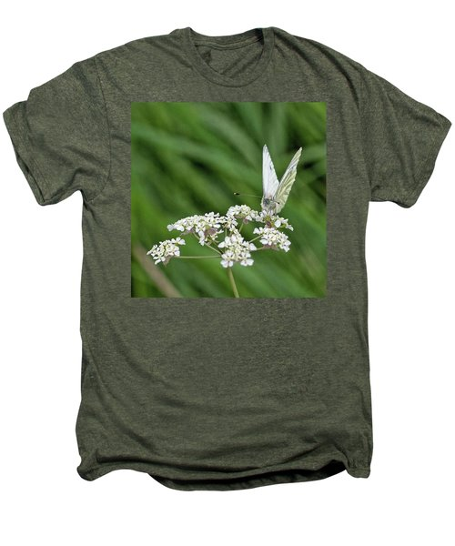 A Green-veined White (pieris Napi) Men's Premium T-Shirt