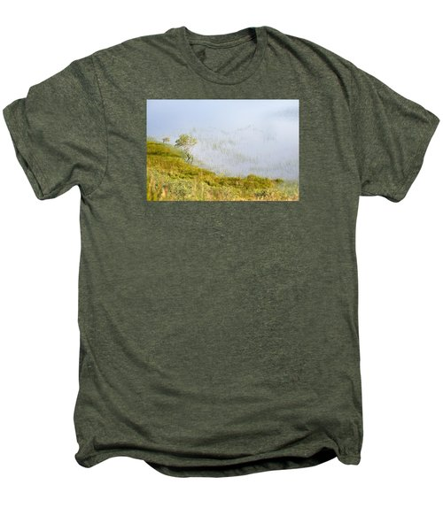 Men's Premium T-Shirt featuring the photograph A Tree In The Lake Of The Scottish Highland by Dubi Roman