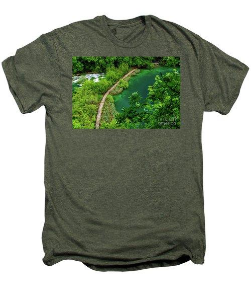 Above The Paths At Plitvice Lakes National Park, Croatia Men's Premium T-Shirt