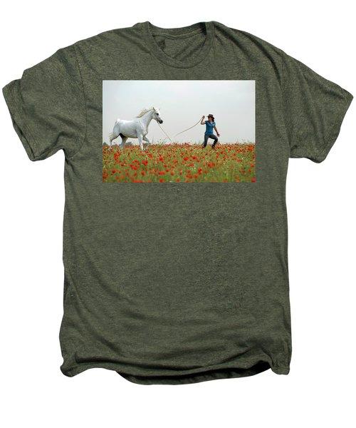 At The Poppies' Field... 2 Men's Premium T-Shirt by Dubi Roman
