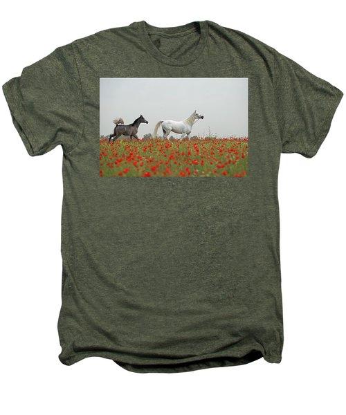 At The Poppies' Field... Men's Premium T-Shirt