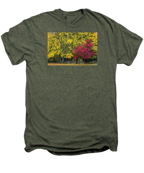Autumn's Peak Men's Premium T-Shirt by Jeremy Lavender Photography