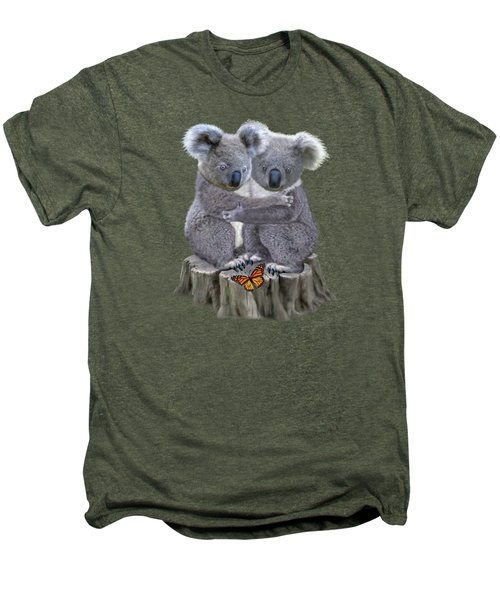 Baby Koala Huggies Men's Premium T-Shirt by Glenn Holbrook