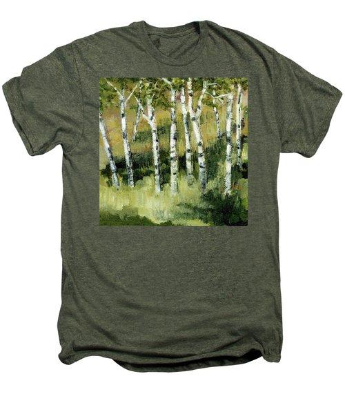 Birches On A Hill Men's Premium T-Shirt