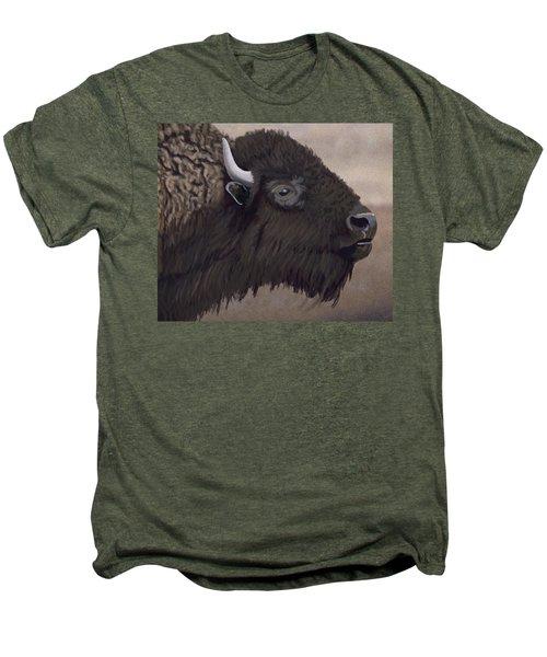 Bison Men's Premium T-Shirt by Jacqueline Barden