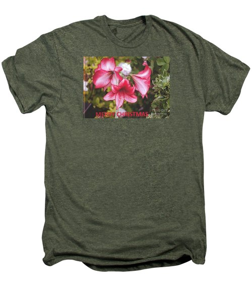Men's Premium T-Shirt featuring the photograph Christmas Card - Amorillis by Rod Ismay