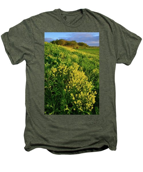 Evening At Glacial Park In Mchenry County Illinois Men's Premium T-Shirt