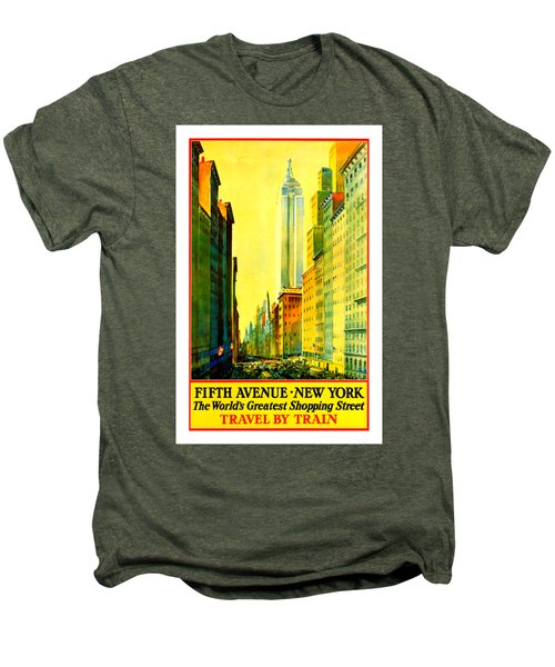 Fifth Avenue New York Travel By Train 1932 Frederick Mizen Men's Premium T-Shirt by Peter Gumaer Ogden Collection