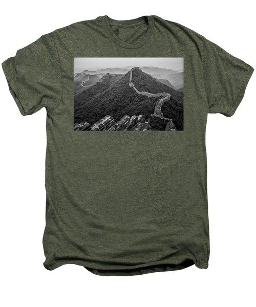 Men's Premium T-Shirt featuring the photograph Great Wall 2, Jinshanling, 2016 by Hitendra SINKAR