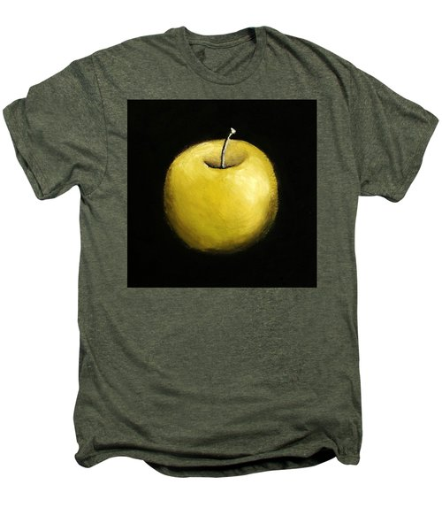 Men's Premium T-Shirt featuring the painting Green Apple Still Life 2.0 by Michelle Calkins