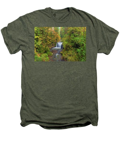 Hidden Falls In Autumn Men's Premium T-Shirt