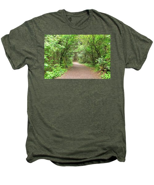Hiking Trail Along Lewis And Clark River Men's Premium T-Shirt