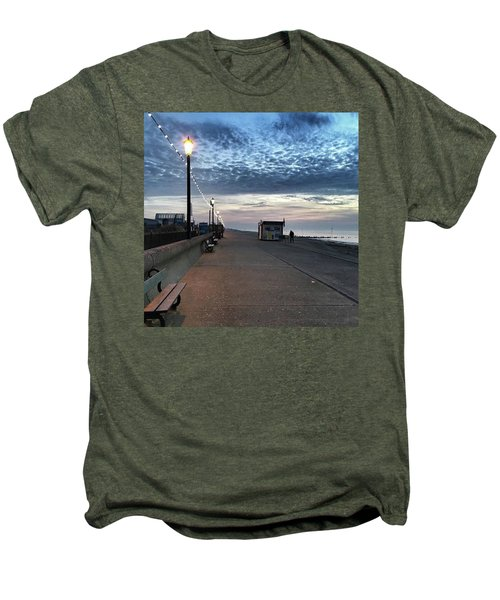 Hunstanton At 5pm Today  #sea #beach Men's Premium T-Shirt