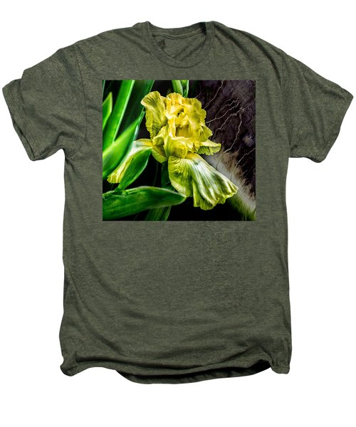 Iris In Bloom Two Men's Premium T-Shirt