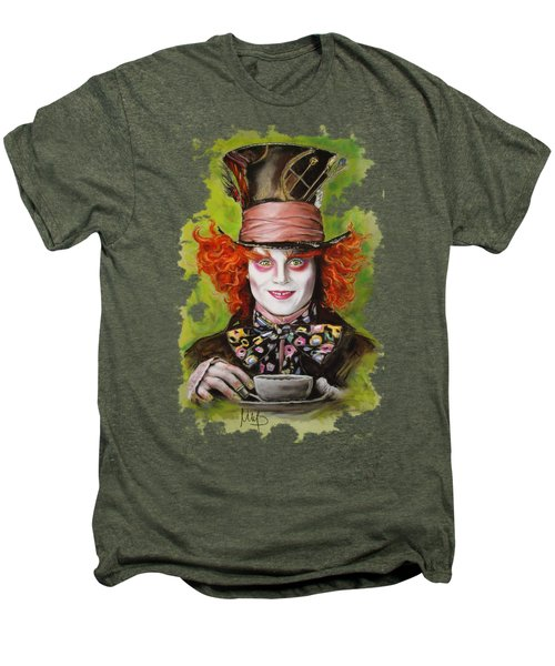 Johnny Depp As Mad Hatter Men's Premium T-Shirt by Melanie D