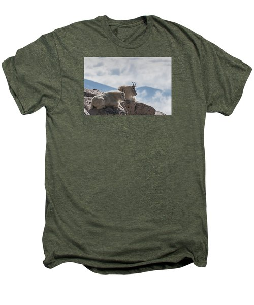 Looking Down On The World Men's Premium T-Shirt