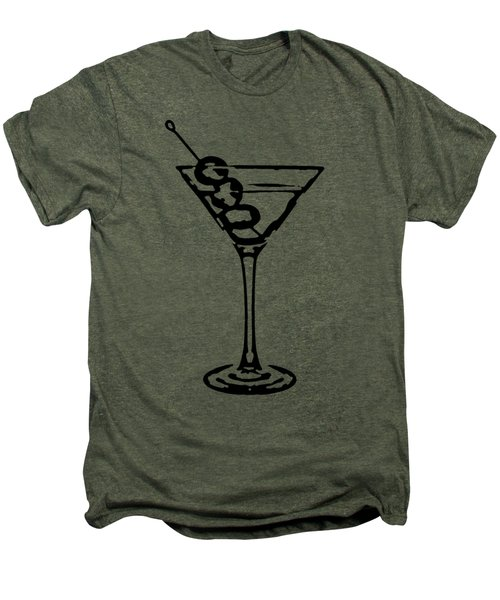 Martini Glass Tee Men's Premium T-Shirt by Edward Fielding