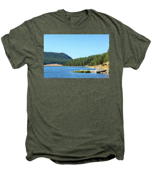 Meadowlark Lake View Men's Premium T-Shirt by Jess Kraft