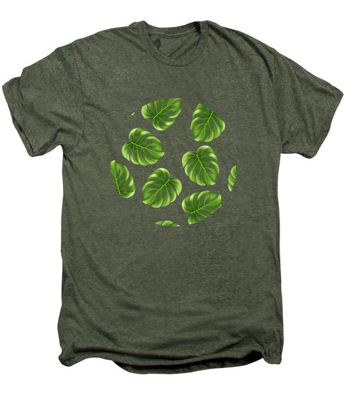 Monstera Leaves Greenery Tropical Aloha Bohemian Decor Men's Premium T-Shirt