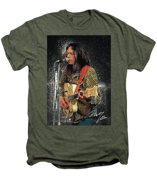 Neil Young Men's Premium T-Shirt by Taylan Apukovska