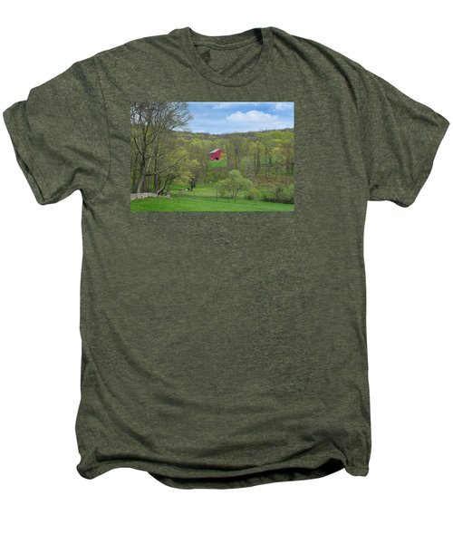 Men's Premium T-Shirt featuring the photograph New England Spring Pasture by Bill Wakeley