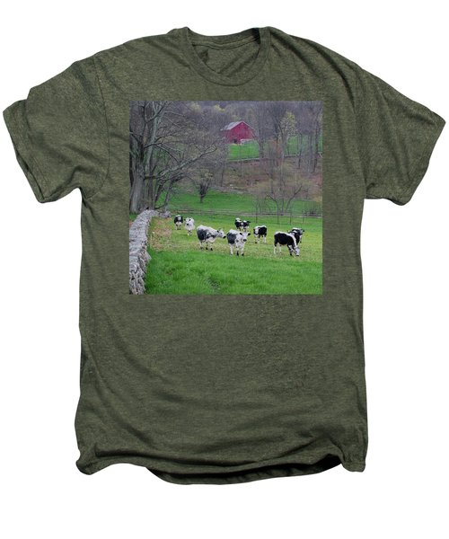 Men's Premium T-Shirt featuring the photograph New England Spring Pasture Square by Bill Wakeley