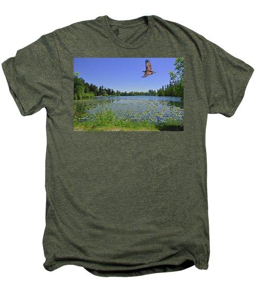 Osprey Fishing At Wapato Lake Men's Premium T-Shirt