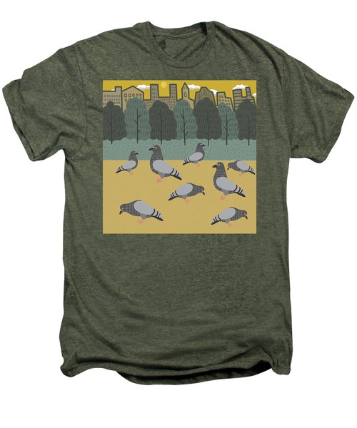 Pigeons Day Out Men's Premium T-Shirt