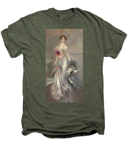 Portrait Of Marthe Regnier Men's Premium T-Shirt by Giovanni Boldini