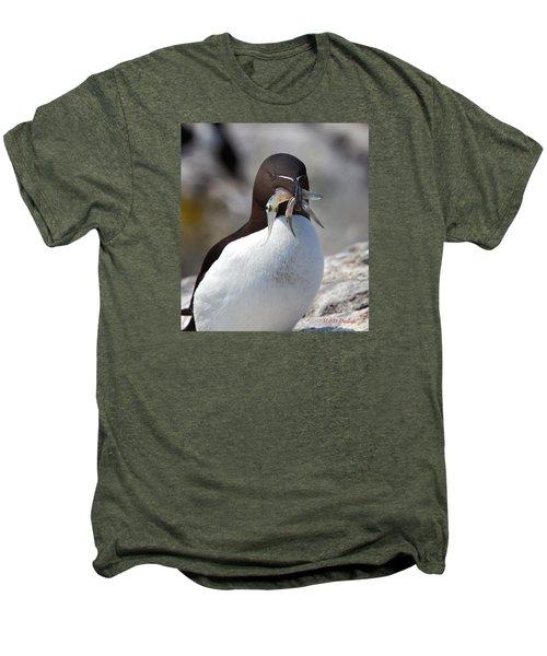 Razorbill With Catch Men's Premium T-Shirt by Mike Dodak