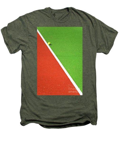 Red Green White Line And Tennis Ball Men's Premium T-Shirt