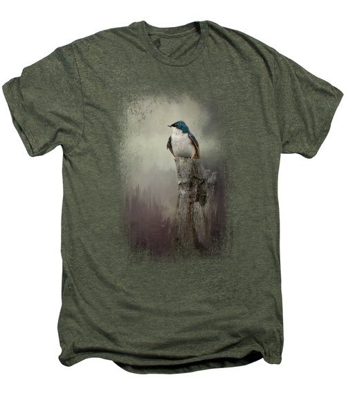 Resting Tree Swallow Men's Premium T-Shirt
