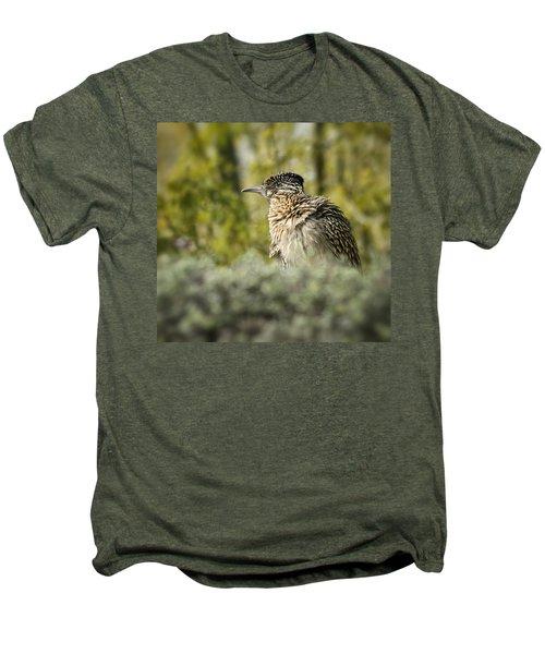 Roadrunner On Guard  Men's Premium T-Shirt by Saija  Lehtonen