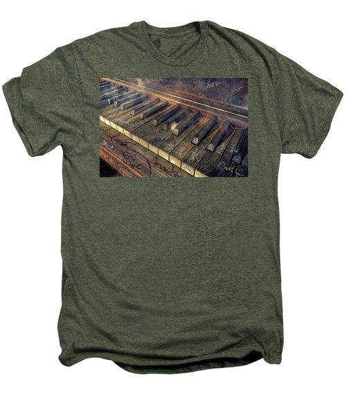 Rock Piano Fantasy Men's Premium T-Shirt by Mal Bray