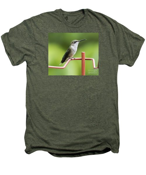 Men's Premium T-Shirt featuring the photograph Ruby-throated Hummingbird by Ricky L Jones