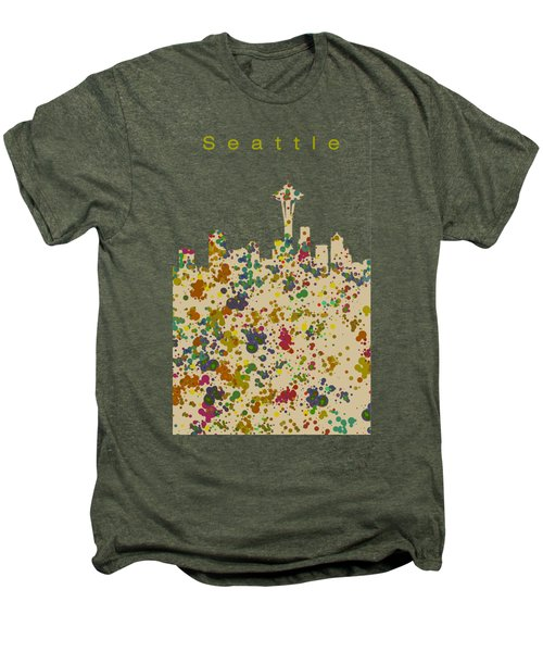 Seattle Skyline 1 Men's Premium T-Shirt by Alberto RuiZ
