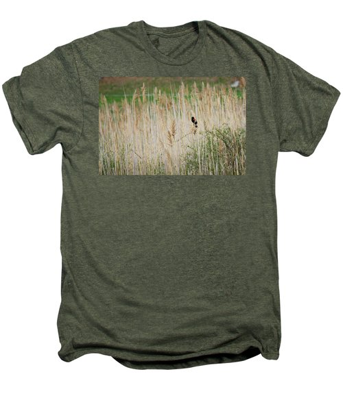 Men's Premium T-Shirt featuring the photograph Sing For Spring by Bill Wakeley