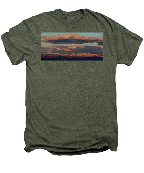 Snow Covered Red Rock Panorama Men's Premium T-Shirt