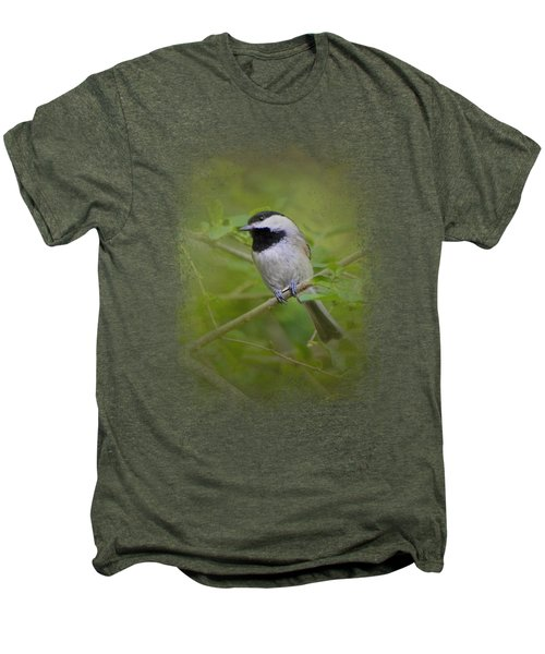 Spring Chickadee Men's Premium T-Shirt by Jai Johnson