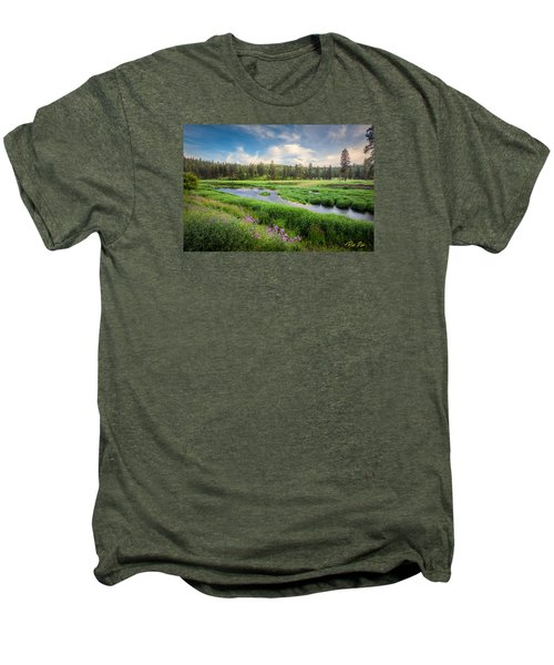 Men's Premium T-Shirt featuring the photograph Spring River Valley by Rikk Flohr