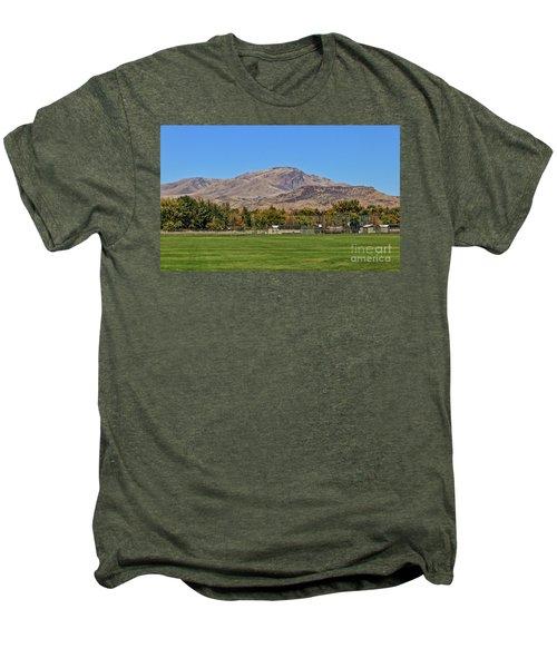 Squaw Butte From Gem Island Sport Complex Men's Premium T-Shirt